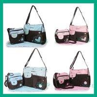 Diaper Bag Nappy Tote Shoulder Changing Bag Twins Changing Bag 4 PCs Free shipping