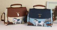 Hot Horse Pattern Handbag Messenger Bag Tote Shoulder Bag White\ light blue
