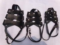 3pcs size1 2 3  genuine The first Soft cow leather  dog muzzles Adjustable personalized dog muzzle  mask cowhide leather