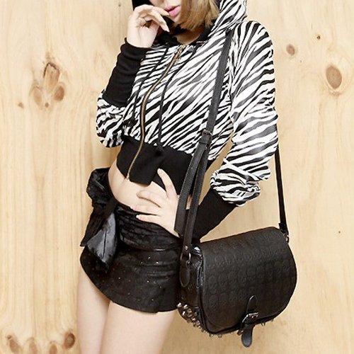 Free Shipping GK Western Style Girls Punk Skull Rivet Messenger Handbag Shoulder Bag BG172(China (Mainland))