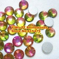 SS16 Rainbow color 1440pcs Non Hotfix Rhinestones 3.8mm 16ss crystal flatback Nail Art Rhinestones