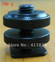 "Wholesale New professional 1/4""-20 Tripod Mount Screw to Flash Hot Shoe Adapter"