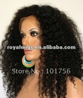 kinky curly  hot sell  full lace wigs