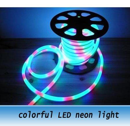 2Meter 240led/M LED neon light / colorful Decoration Light / 220V / led rainbow ligh(China (Mainland))