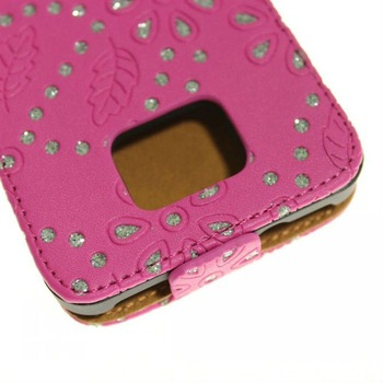 Best Seller Blossom Flip Leather Bling Case for Samsung Galaxy S2 i9100 Cover for Samsung s 2 Cell Phone Cases