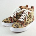 fashion men's shoes leopard print with studs casual shoes sneaker shoes free shipping