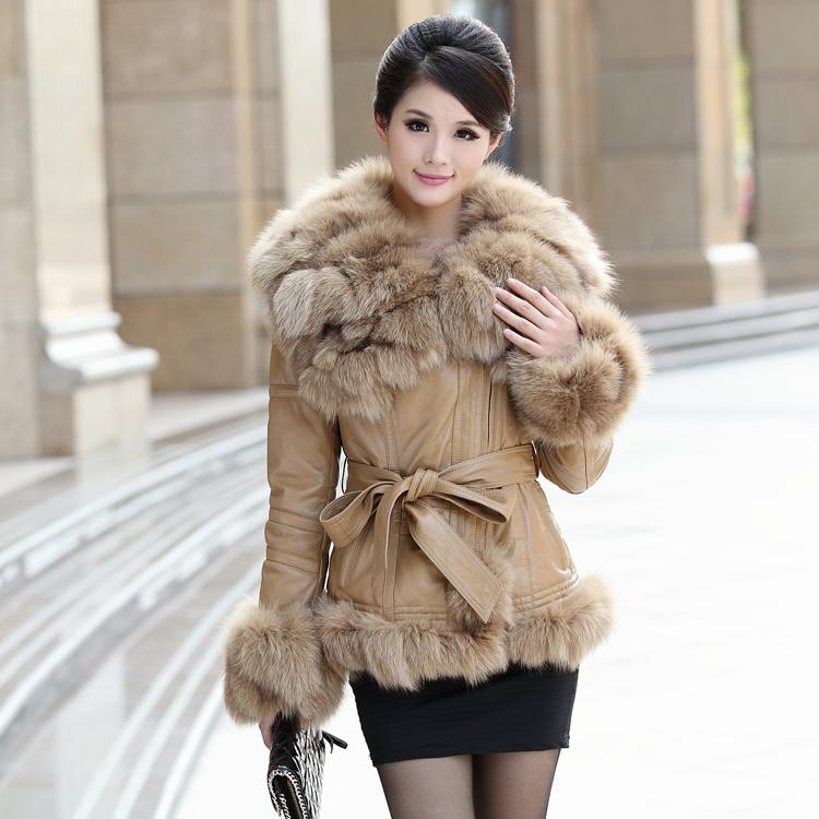 2013 New Luxury Clothing Womens Genuine Sheepskin Leather
