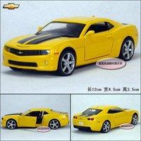 1:36 Chevrolet Camaro Bumblebee Diecast Car Model toy Sound&Light Yellow B1911