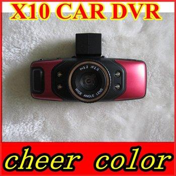 "New arrival 1.5"" TFT LCD Dual lens HD 720P Car Camera Recorder with seperate lens H.264 HDMI G-sensor car dvr X10"