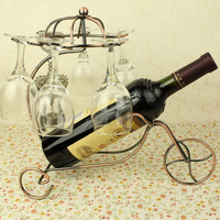 Fashion wine rack iron fashion hanging wine rack wall bicycle wine rack