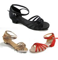 Satin belt tieclasps 058 female child  nagle Latin  dance shoes