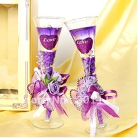 Free Shipping  Lavender Jelly Crystal Wedding Favor Candles,party candle,Home decoration