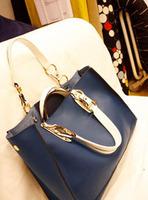 Hot selling Cowhide genuine leather bag brief women's handbag shoulder  large capacity vintage  handbag 727