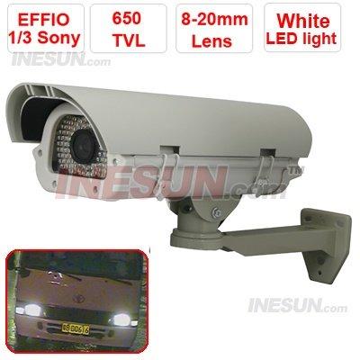 Número da placa CCTV 650TVL Effio 8-20mm Lens 90 Leds OSD Car captura IR Camera thunderproof projeto(China (Mainland))