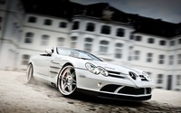 "07 Mercedes Benz Slivery White Car Exhibition On The Square Cool Dream Fast Show Supercar 38"" x 24"" inch ART PRINT Poster"