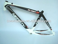 white color painted carbon mtb frame