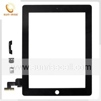 For ipad 2 Touch screen digitizer assembly +Home button + 3M Sticker Black/White 20pcs/lot DHL Free shipping