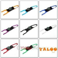 Wholesale - 60pcs blue  Aluminum Convenient Carabiner Snap Hook Hiking Camping Clip On Keychain 160498