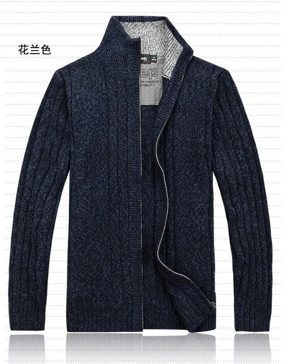 Free shipping 2014 men brand fashion whole sweater male casual sweater turtleneck cardigan outerwear wool blended/M-XXL(China (Mainland))