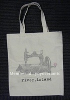 Free shipping Customized Logo Printing promotional cotton bag  37*41cm