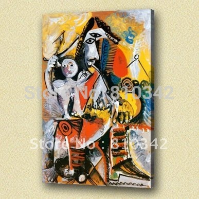 Wholesale 100% handmade oil painting of Picasso canvas art for bedroom(China (Mainland))