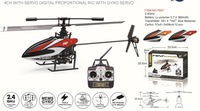 F-Series 2.4G 4CH Digital Proportional R/C Helicopter,Single Blade EMS Free Shipping