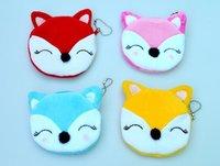 NEW Adorable plush cartoon Purse Cartoon Ali Ah-tao Firefox coin purse 4 styles for choice
