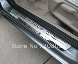 free shipping! Door sills/sill plate,scuff plate for Ford Focus 2 and 3, stainless steel auto accessories(China (Mainland))