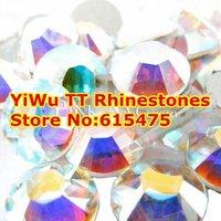 SS30 Crystal AB color 288pcs Non Hotfix Rhinestones 6.3-6.5mm 20ss crystal flatback Nail Art Rhinestones