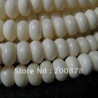 TSB0414  Tibetan ivory white Yak Bone loose prayer beads,8*4mm,100pcs lot