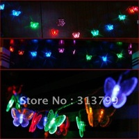 2.5m 10LED Butterfly  lantern colorful string butterfly Christmas Lights windows decorative lights 8 color Free Shipping