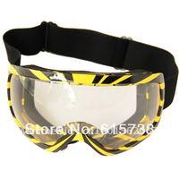 Motorcycle Motocross Bike Cross Country Flexible Goggles Adult Yellow & Black