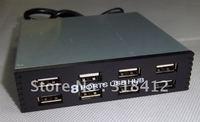 Free shipping 3.5 inch Floppy Drive Internal 8 ports usb hub ,support Win 7 ULS-3505 Drop shipping