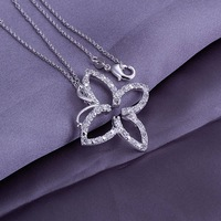 HOT!Free Shipping 925 Sterling Silver Jewelry Necklace.New arrived Jewelry .Lovely Necklace N013