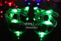 free shipping 9pcs/lot  flashing glasses led glasses costumes glasses christmas mask