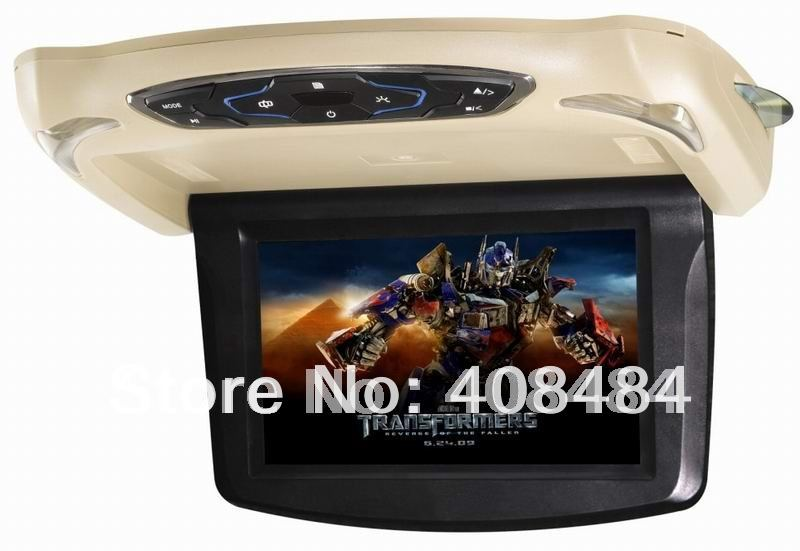 9&quot;Flip down monitor car DVD player,Roof Mount DVD Player,car DVD player for retail/pcs+free shipping!(China (Mainland))