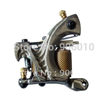 Free Shipping Damascus Tattoo Machine Gun DS-05 Top Hand Made Tattoo Machine
