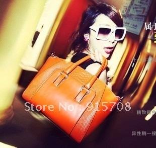 2012 brief crocodile pattern shoulder bag casual handbag female bags m03-038
