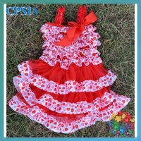 Christmas Promotion  Dress Red  white pink dots girls dress many color for you to choose -24PCS/LOT