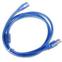 Transparent blue 5 meters usb extension cable usb cable blue copper high quality belt magnetic