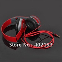 Stereo Headset Headphone Earphone Foldable for PSP MP3 MP4 PC Red New Wholesale,Free Shipping,#160234