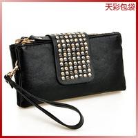 wholesale Women's handbag rivet candy bag clutch bag day clutch small bags wallet