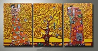 100% hand painted tree of life canvas Gustav Klimt painting replicas high quality wall art decoration unique gifts klimt115