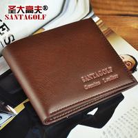 Discover golf wallet male cowhide short design wallet Men purse