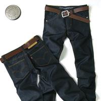 wholesale Autumn black mercerized cotton men's jeans male straight slim fashionable casual male trousers