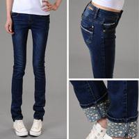 wholesale - autumn trousers pencil pants plus size jeans female skinny pants slim