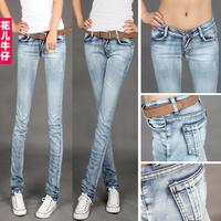 wholesale - jeans trousers elastic women's skinny pants pencil pants casual pants light color