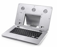Latest Ergonomic Black Laptop Cooling Pad  with apple keyboard , Fashion&Health Gift,CE, FCC,RoHS