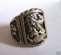 Free Shipping !Hot Sell ! Tibet Tribal dragon wealth men's luck ring