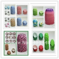 400pcs mixed 8 designs BAKING CUPS Cupcake Liners A Muffin Cases FDA cake boxes wholesale cupcakes wrappers wholesale